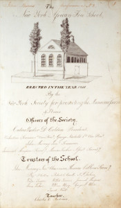 Courtesy of New York African Free School Collection, New York Historical Society, by Student John Burns, 1800's