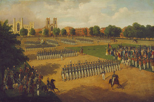 The park as a parade ground after the potters field was filled, 1851. Courtesy of the Metropolitan Museum of Art