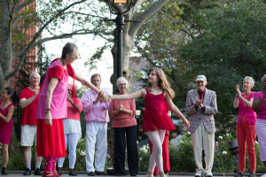Grant recipient Dances for a Variable Population perform in Washington Square Park.